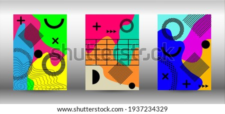 Modern abstract vector banner set. Trendy abstract vector illustration. Abstract elegant background. Creative vector banner illustration.