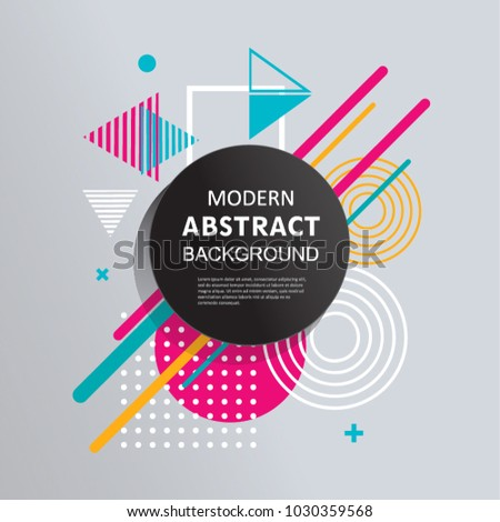 Modern abstract vector circle geometric pattern design and background. Use for modern design, template, decorated, flyer and cover. #1030359568