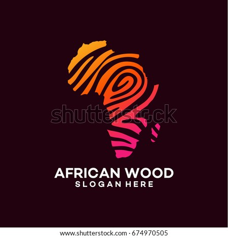 modern African wood logo template designs vector illustration