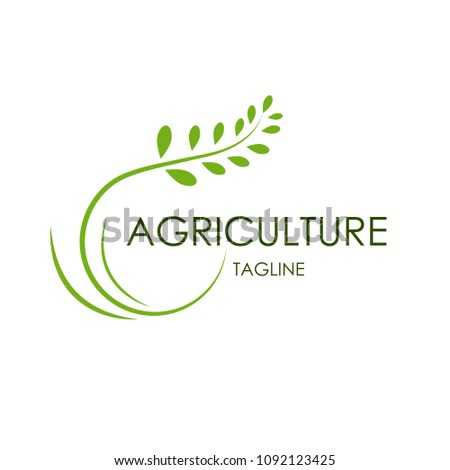 modern agricultural logo for modern food companies, agriculture logos with simple and elegant concept