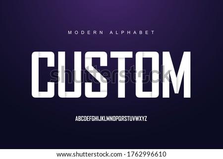 modern alphabet font set