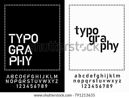 modern alphabet fonts and numbers. designs for logo, Poster, Invitation, etc. Typography font uppercase and lowercase. vector illustrator
