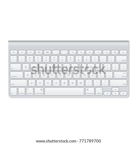 Modern Aluminum Computer Keyboard #771789700