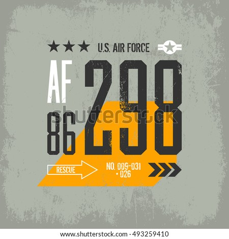 modern american air force tee
