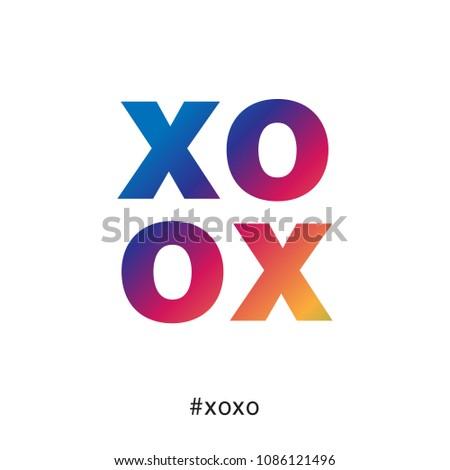 modern and colorful xoxo