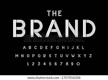 modern and elegant vector typography set. Ideal for headline, logo, poster and etc.