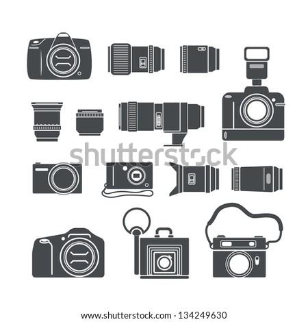 modern and retro photo technics