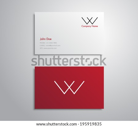 Minimal business card template vector design illustration download modern and simple business card template with minimal minimalistic and clean style design vector cheaphphosting Image collections