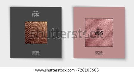 Modern and stylish minimal design. Copper glossy background. Metallic texture. Bronze metal texture. Rose quartz pattern. Abstract shiny background. Luxury sparkling background for holiday, invitation