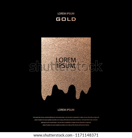 Modern and stylish minimal drip design. Copper glossy background. Metallic texture. Bronze metal. Rose quartz pattern. Luxury sparkling background for holiday designs birthday, wedding, invitation card