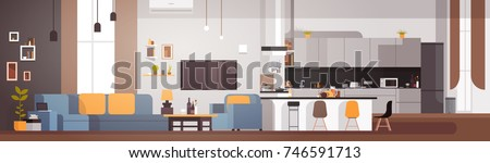 modern apartment interior with