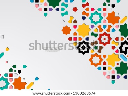 Modern arabesque pattern collection colorful arabic background template vector design