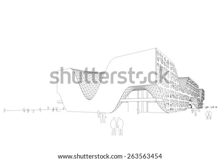modern architectural building