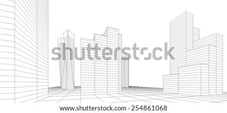 modern architecture. building...