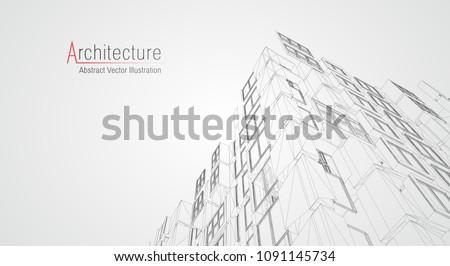 modern architecture wireframe