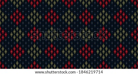 Modern argyle plaid pattern Christmas design retro holiday background royal blue, green, crimson red. Allover print block for packaging paper, wrapping cloth, book cover, shop window, patchwork fabric Stock foto ©