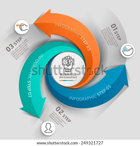 Modern arrow business template Vector illustration Can be used for workflow layout diagram number options web design infographics and timeline