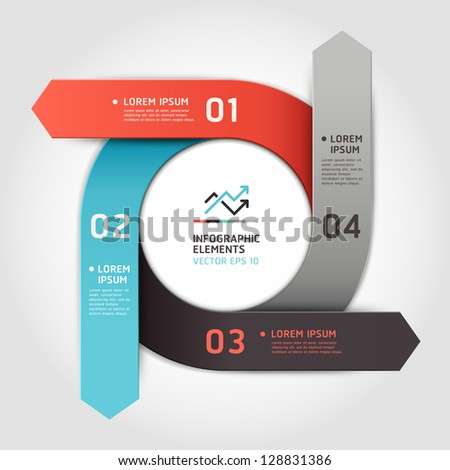Modern arrow circle step up options banner. Vector illustration. can be used for workflow layout, diagram, number options, web design, infographics.