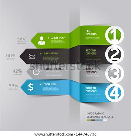 modern arrow infographics