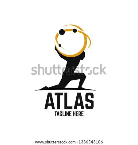 Modern Atlas logo Foto stock ©