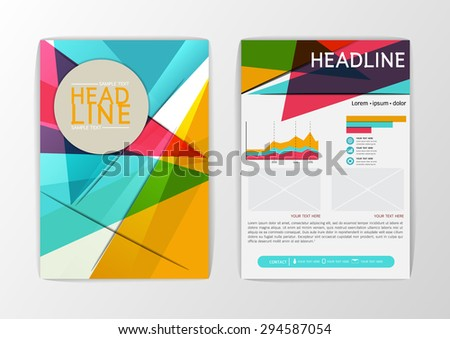 Modern background design, brochure template, Flyer, magazine, A4 size-Vector illustration #294587054