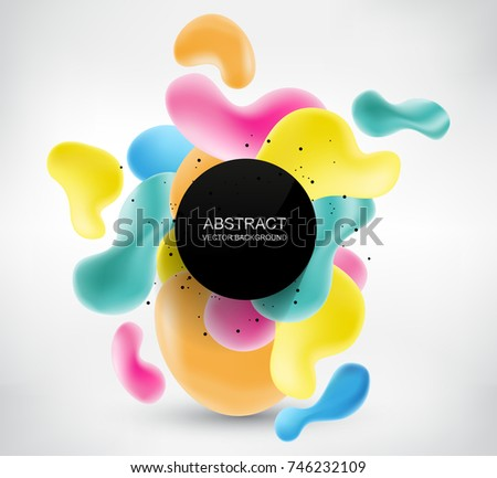Modern background with abstract shapes.Abstract vector banner. #746232109