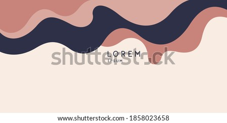 Modern backgrounds with abstract elements and dynamic shapes. Compositions of colored spots. Vector illustration. Template for design and creative ideas. Foto stock ©