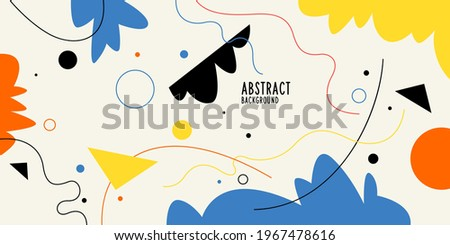 Modern backgrounds with abstract elements and dynamic shapes. Compositions of colored spots. Vector illustration. Template for design and creative ideas. Stock fotó ©