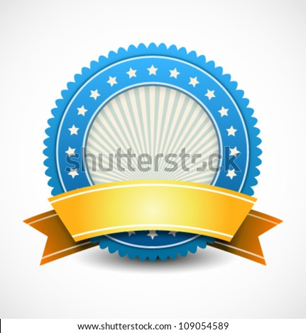 Modern badge - stock vector