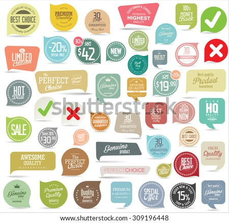 Modern badges collection