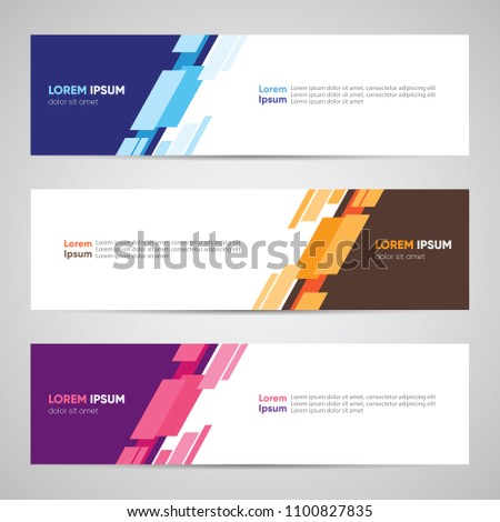 Modern Banner Design. Banner Backdrop Background Header Footer Web Template. Abstract Colorful Banner with Diagonal Style Vector #1100827835