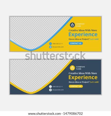 modern banner design for social