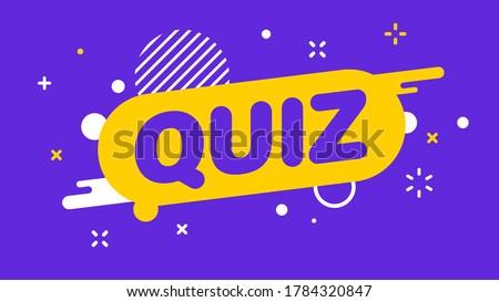 Modern banner Quiz. Banner for business, marketing and advertising. Vector illustration.