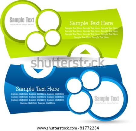 modern banner set vector - stock vector
