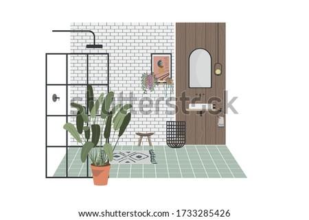 modern bathroom vector