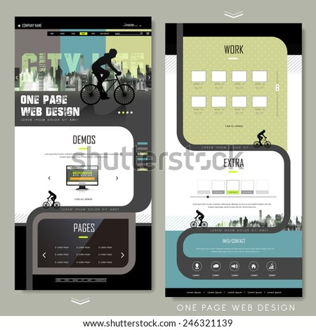 modern bicycle sport one page
