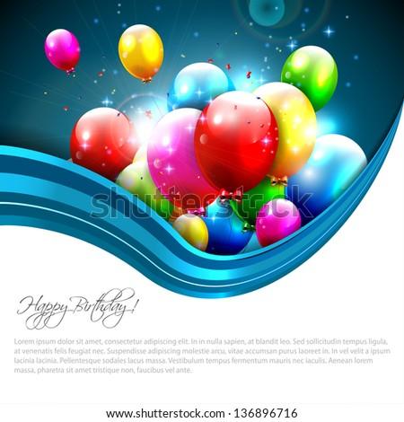 Modern birthday greeting card