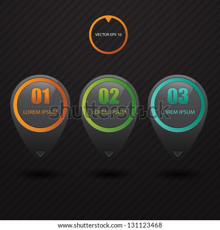 Modern black infographics bubble. Vector illustration. can be used for workflow layout, diagram, web design, number options.