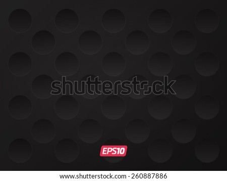stock vector modern black realistic round texture 260887886 - Каталог — Фотообои «3D Текстуры»