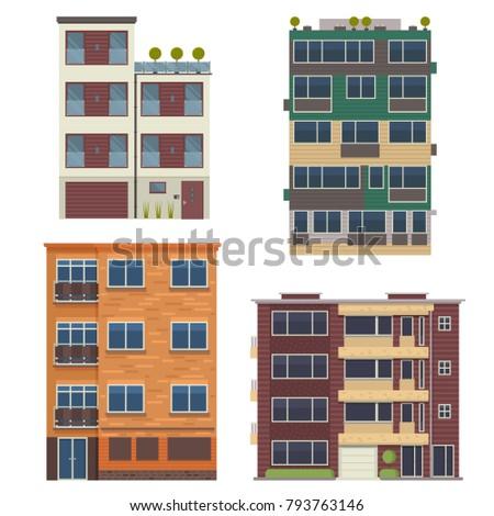 modern block city apartment