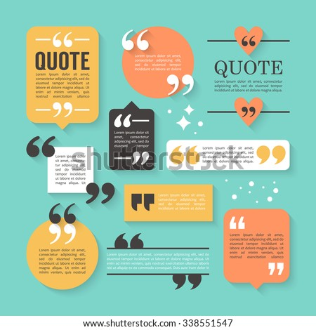Modern block quote and pull quote design elements. Creative quote text template