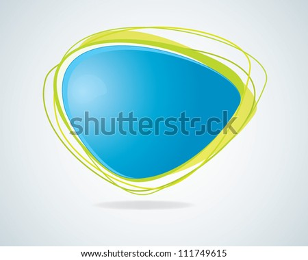 Modern blue and green abstract bubble