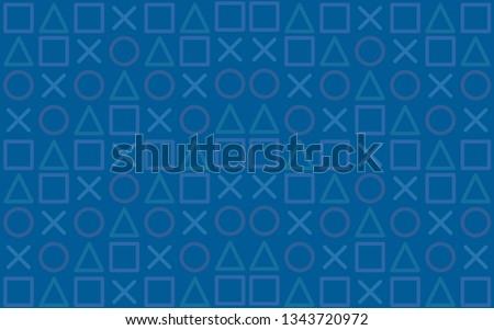 Modern Blue background. Game wallpaper concept.Seamless Pattern.