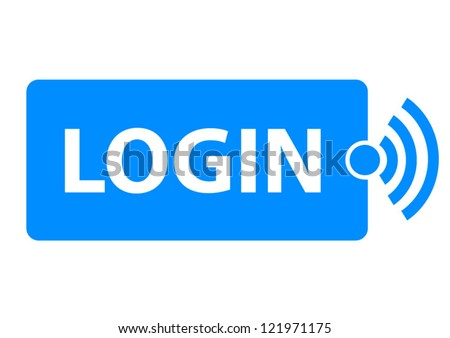 Modern blue login sign