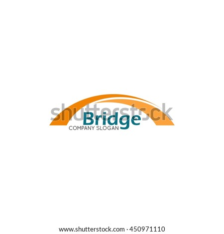 modern bridge connection logo