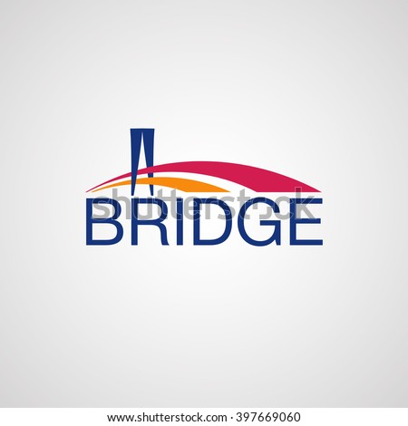 modern bridge logo design