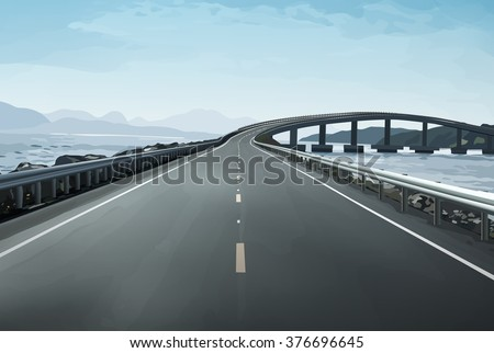 modern bridge over islands in