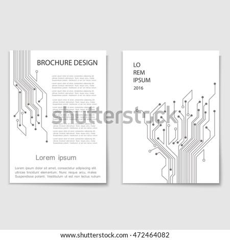 modern brochure cover template