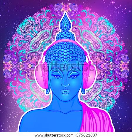 modern buddha listening to the