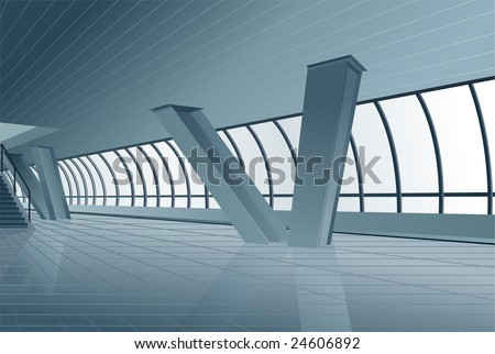 modern building interior vector